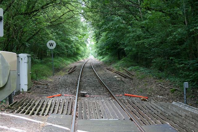 The Fawley railway line near Marchwood