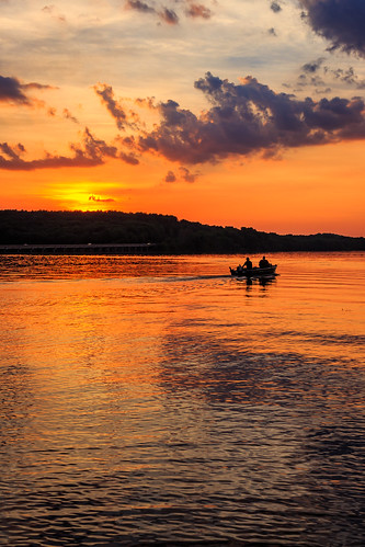 sunset lake clouds landscape scenic vivid moraine davidsharo