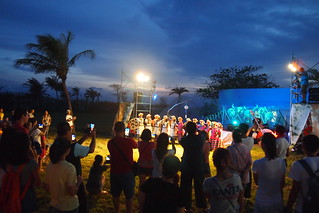 涼涼海風中的音樂演唱。李育琴攝 | by TEIA - 台灣環境資訊協會