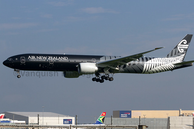 ZK-OKQ Air New Zealand All Blacks Rugby B777-300ER London Heathrow Airport