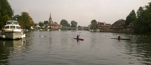 Not quite still life in Marlow Thames