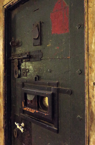 Door to a Prison at the Crumlin St. Gaol in Belfast, Ireland