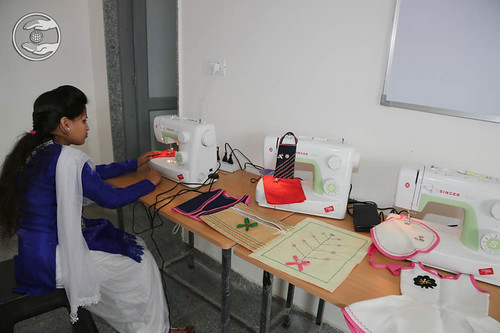 View of sewing center