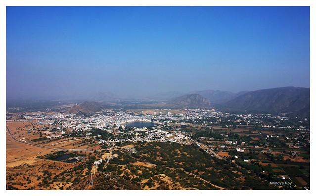 Holy city of Pushkar : Bird eye view