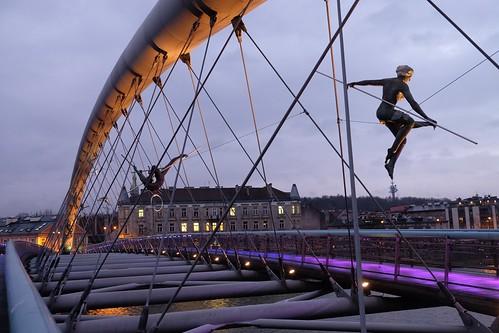 Acrobats on Kraków's loversbridge | by Jeroen Fossaert