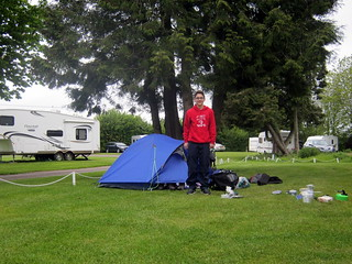 First campsite - the well maintained Morn Hill Caravan Club Site | by bradbox