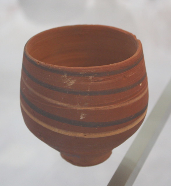 A Nubian Red Ware Cup with Oblique Linear Decoration