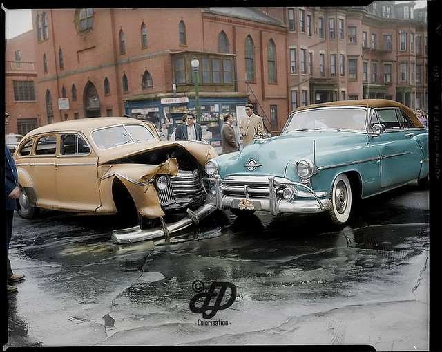 Old Photos of Car Accidents in The 1940's copyright