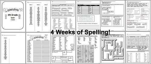 6th Grade Spelling - Unit 1   by CHSH-Teach