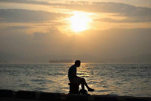 sunset sea silhouette canon hongkong westerndistrict ef70200mmf4lisusm eos5dmarkiii