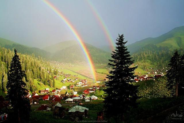 Double Rainbow - Bakhmaro, Georgia.