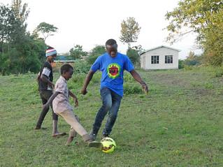 Kalvine Massoud playing soccer