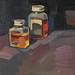L'atelier, 20x20cm, Oil on linen