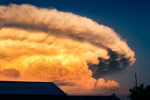 sunset cloud texas stormy anvil lubbock cumulonimbus anvilcloud lubbocktx