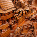 Ornate solid wood carving