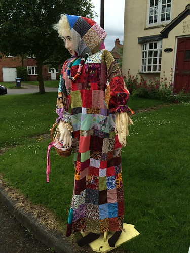 Quilted Lady Scarecrow