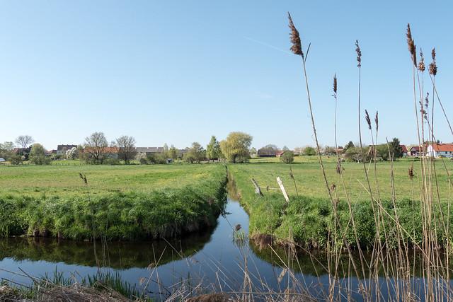 Storchendorf Linum: Wiesen am Dorf