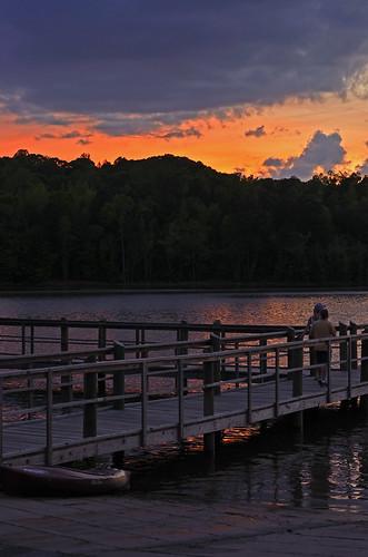 sunset nature docks georgia outdoors peachtreecity lakemcintosh nikond7000