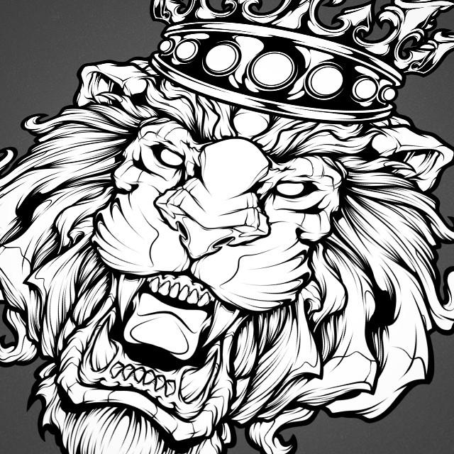 New Lion Illustration Art Lion Mangastudio Ink Tattoo