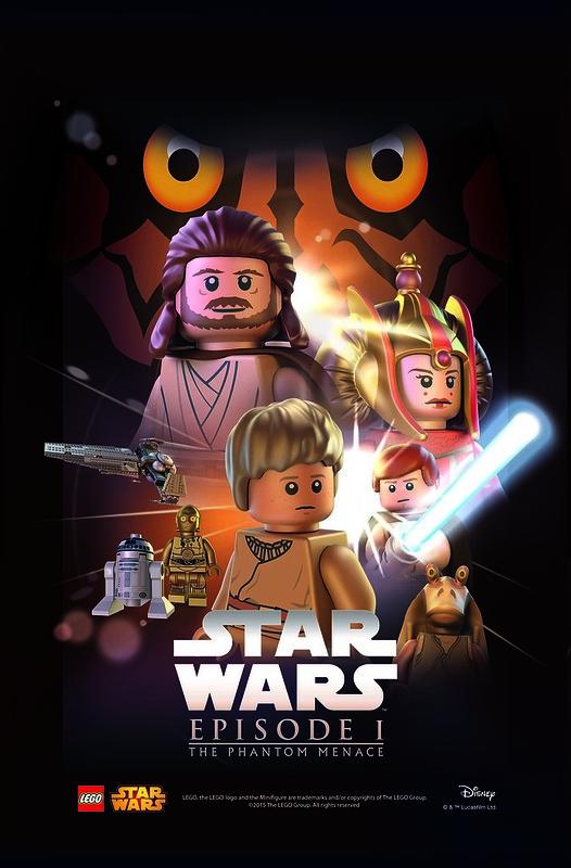 LEGO Star Wars Movie Poster - Episode 1 The Phantom Menace