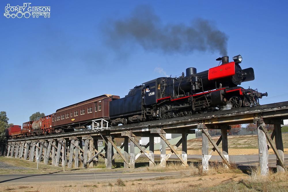 Victorian Goldfields Railway - J549 by Corey Gibson