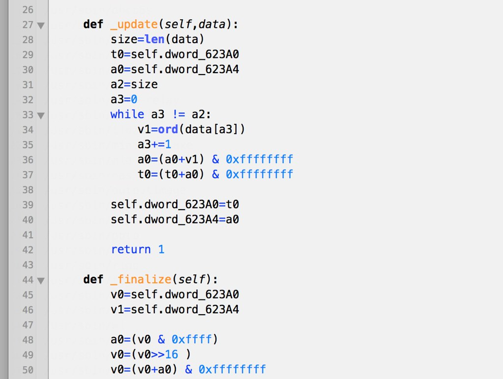 Checksum Python reimplementation | Reimplemented checksum fr… | Flickr