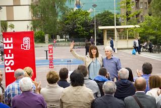 Carlos Totorika e Idoia Mendia antes de comenzar el acto | by Socialistas de Ermua · Ermuko Sozialistak