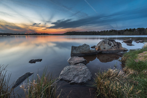 ca longexposure sunset sky canada reflection water rocks novascotia dartmouth albrolake