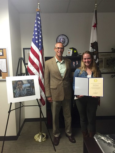Rep. Huffman with 2016 Winner Haley Bjursten | by Congressman Jared Huffman