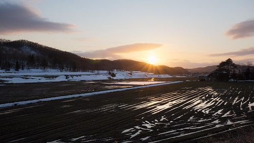 hdr sunset spring higashikawa 旭川市 北海道 日本 jp