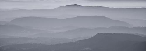 mist mountains fog hills tasmania layers hobart mtwellington kunanyi