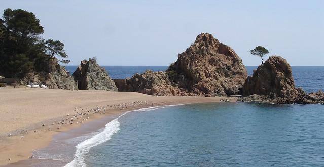 Tossa de Mar. Playa del Mar Menuda.