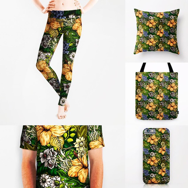 Finally I made these items with my latest botanical patterns!! #society6 #iphoneケース #iphone #leggins #apparel #design #totebag #pillow #botanical #pattern #flower #cute #beautiful #illustration #designer #production #good #instafashion #fashion