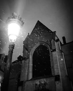 'Eglise saint Nicholas/Sint Niklaaskerk' - #Brussels #Belgium #church #photography #smartshots #welovebrussels #visitbrussels #hellhole #night #snow #winter #BW #B&W | by Ronald's Photo Factory - www.ronaldgiebel.eu