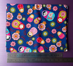 blue russian doll fabric
