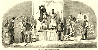 Slave auction at Richmond, Virginia