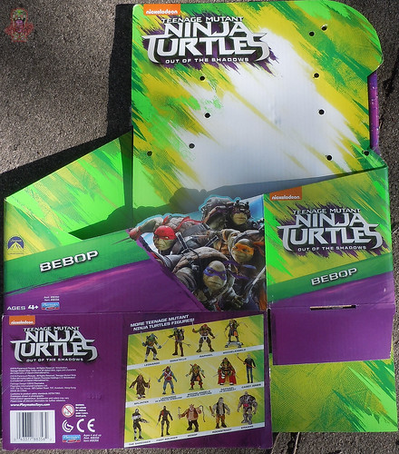 "'TEENAGE MUTANT NINJA TURTLES: OUT OF THE SHADOWS' :: 11"" Movie BEBOP box   (( 2016 )) 