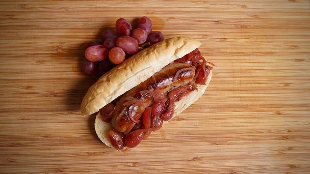 Pork Sausage with Grapes