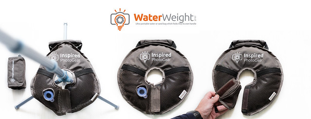WaterWeight - Ultra portable water or sand bag which folds into it's own handle