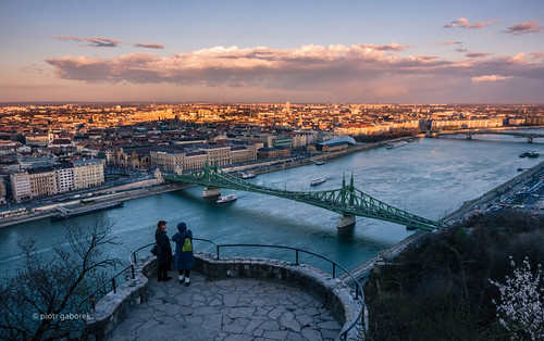 city trip travel bridge sunset river photography europe hungary sundown pentax budapest sightseeing viewpoint danube pentaxk5ii pietkagab piotrgaborek