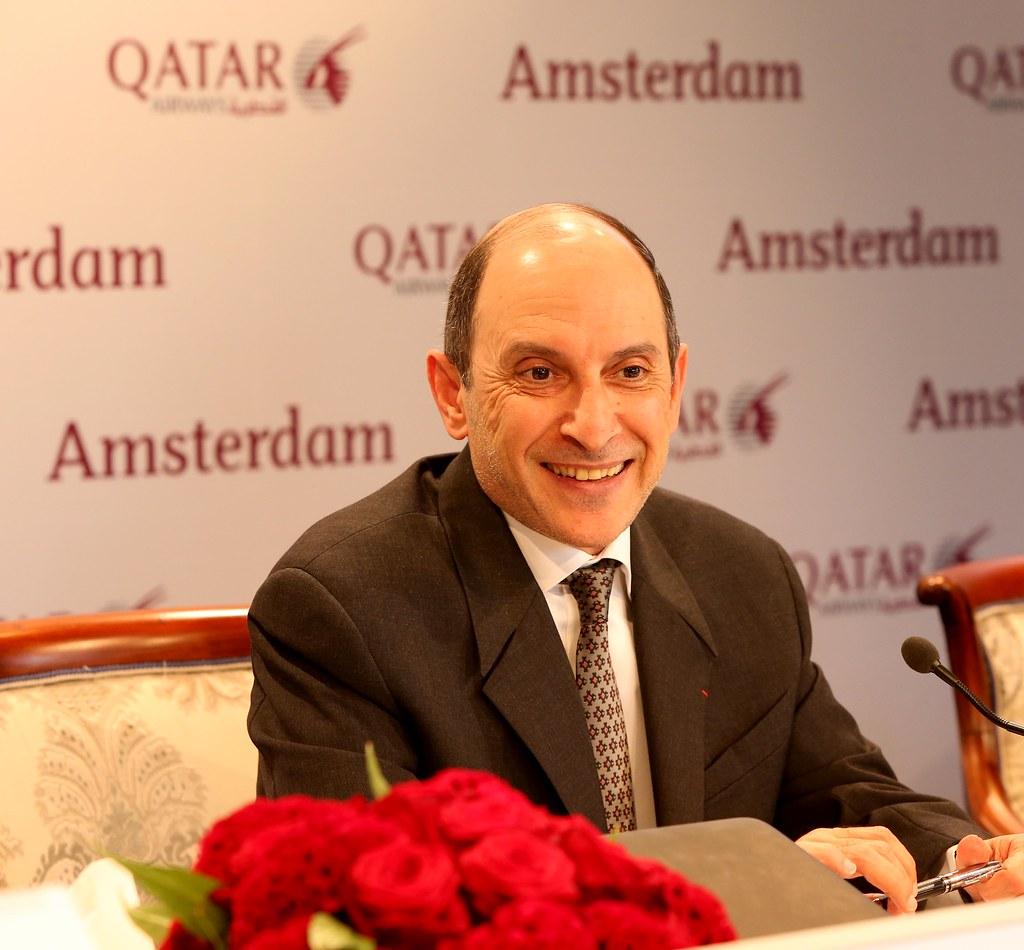Qatar Airways Group Chief Executive H E  Mr  Akbar Al Bake