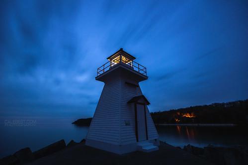 ca longexposure lighthouse ontario canada sunrise landscape brucepeninsula tobermory lionshead