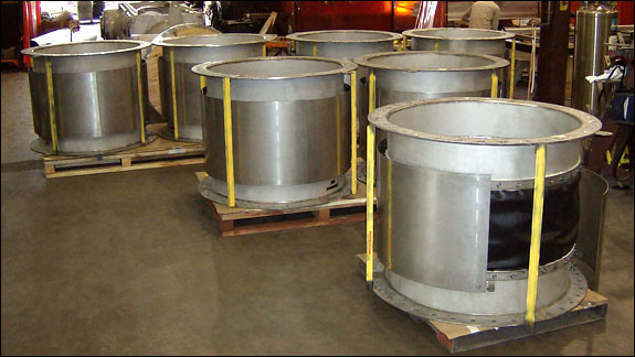 """44"""" Dia. Fabric Expansion Joints Designed for a Chemical Plant"""