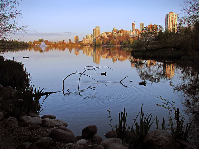 Soon the moon will rise over Lost Lagoon