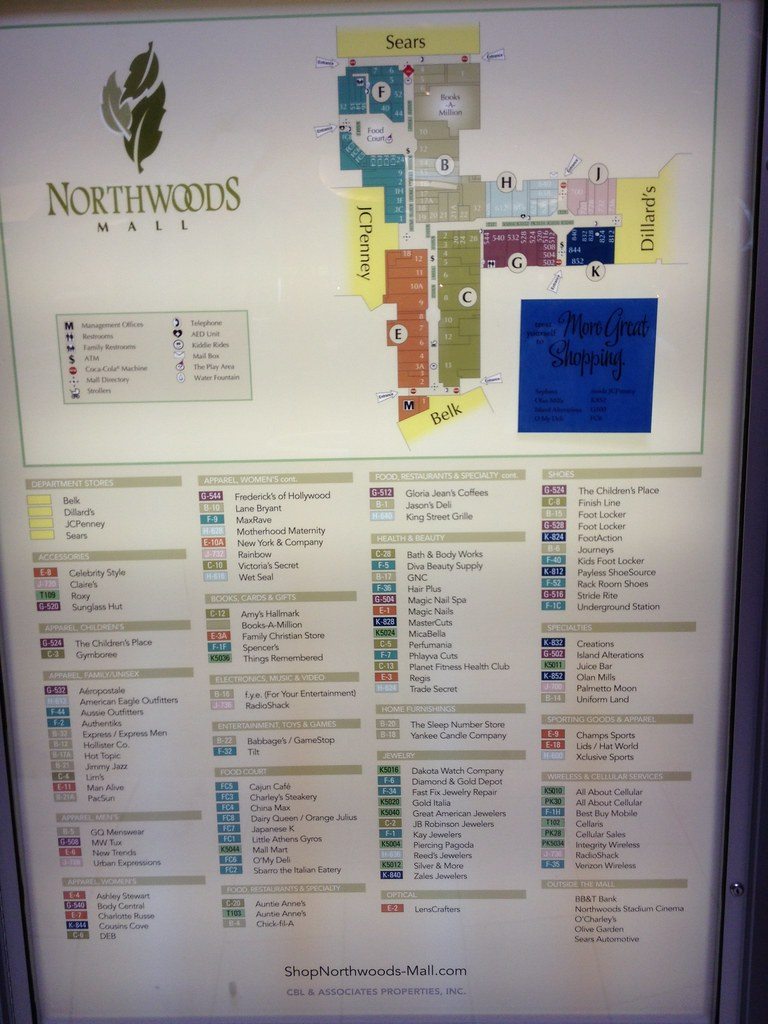 Mall Directory - Northwoods Mall Charleston, SC | Mike