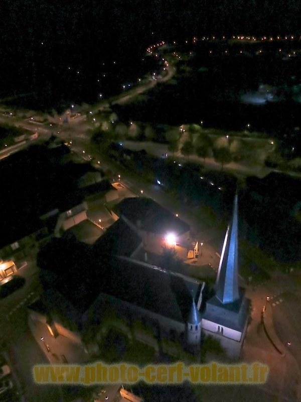 Photo aérienne par cerf-volant. Notre-Dame-de-Monts (Vendée)