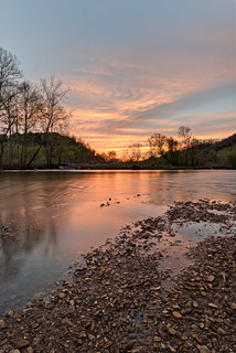 Sunset, Roaring River, The Boils WMA, Jackson County, Tennessee 2