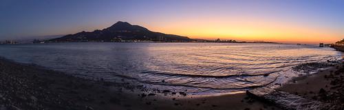 sunset panorama widescreen taipei 淡水 觀音山 淡水老街 寬景