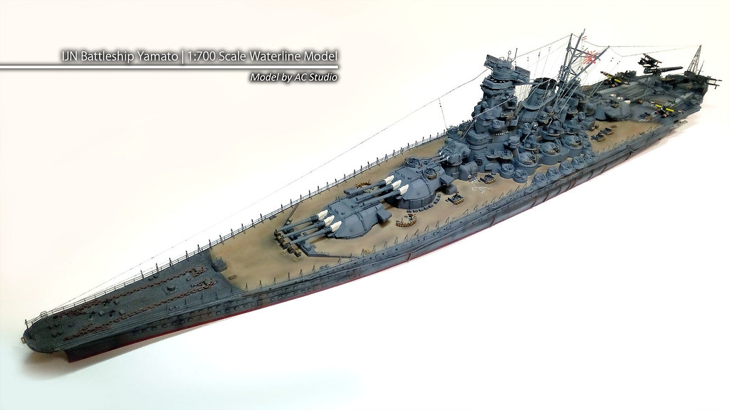 IJN Battleship Yamato | 1:700 Scale Waterline Model | Flickr