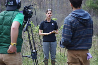Sue Cameron interviewed on camera | by USFWS/Southeast